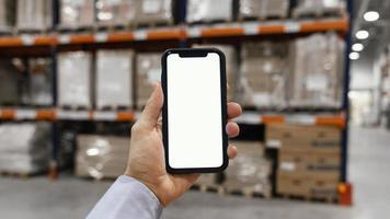 Kopieren Sie Platz leerer mobiler Bildschirm. Auflösung und hochwertiges schönes Foto