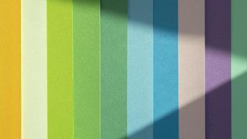 Schichten farbiger Papiere Farbverlauf. Auflösung und hochwertiges schönes Foto