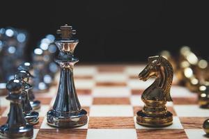 Strategie der starken Führung als König und der schwachen Führung foto