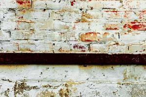 Textur einer Mauer mit Rissen und Kratzern foto