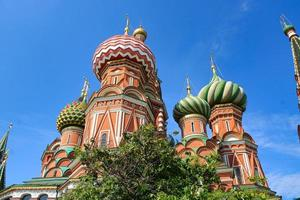 NS. Basilikum-Kathedrale am berühmten Roten Platz in Moskau foto