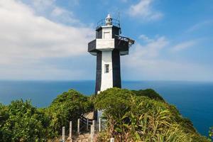 keelung island leuchtturm auf dem gipfel der keelung islet, taiwan foto