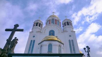 die kirche auf dem blut in jekaterinburg russland foto