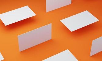 orangefarbener Boden und Visitenkarte foto