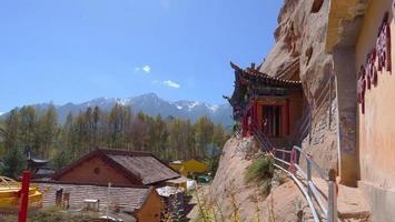 Tausend Buddha-Höhlen im Mati-Tempel, Zhangye Gansu China. foto