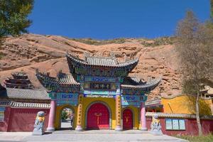 Tausend Buddha-Höhlen im Mati-Tempel, Zhangye Gansu China foto