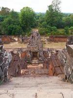 Steinleiter an der buddhistischen Khmer-Ruine von Pre Rup, Siem Reap Kambodscha. foto