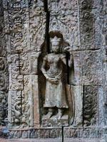 Steinbildhauen im Ta Som Tempel, Siem Reap Kambodscha. foto