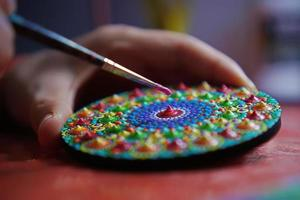 schönes Mandala mit Pinsel gemalt foto