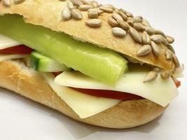 Fertiges Sandwich zum Frühstück foto
