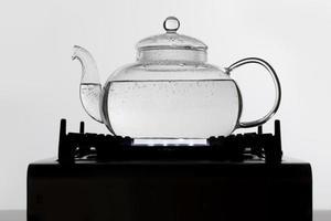 kochend heißes Wasser Tee-Arrangement foto