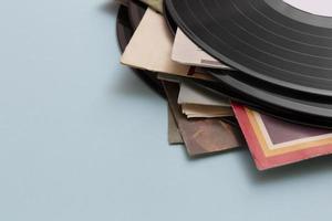 Vinyl-Schallplatte mit Retro-Textur-Sortiment foto