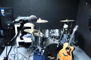 professionelles Kondensator-Studiomikrofon foto