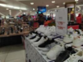 abstrakte Unschärfe mit Bokeh im Einkaufszentrum, unscharfer Supermarkt foto