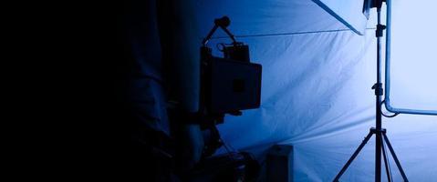 Videoproduktion hinter den Kulissen, Interieur eines Videostudios foto