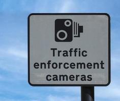 Verkehrsüberwachungskamerazeichen foto