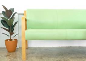 Zimmerpflanze und Sessel foto
