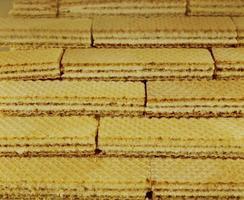 Waffeln der meistproduzierten von allen Keksherstellern foto