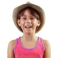 glückliches lachendes Mädchen foto