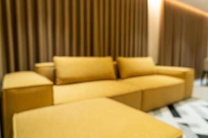 abstrakte Unschärfe modernes und luxuriöses Wohnzimmer foto