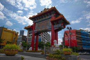tempel von thailand in der chinatown-zone. foto