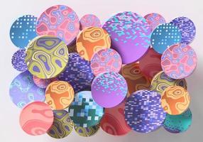 abstrakte runde Form bunter Hintergrund 3D-Rendering foto