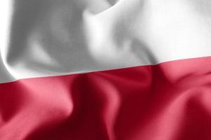 3D-Rendering-Abbildung Flagge von Polen. foto