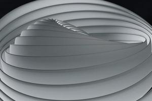 Hintergrund mit weißem Linien-Kurven-Design. Hintergrund, 3D-Rendering foto
