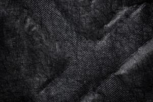 schwarzer Stoff Leinwand Seide Textur Hintergrund foto