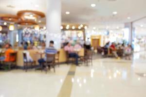 unscharfer Hintergrund des Einkaufszentrums foto