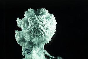 abstrakter Hintergrund mit grüner Rauchwolke foto