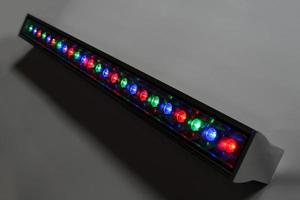 LED-Leuchten in verschiedenen Farben für dekorative Beleuchtung foto