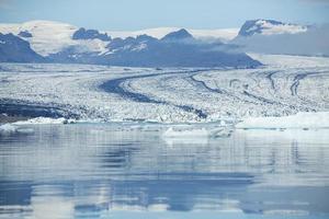 die isländische landschaft schöne wasserlandschaft foto