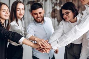 Team Teamwork Zusammengehörigkeit Zusammenarbeit Konzept foto