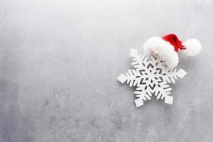 Weihnachten Dekor Hintergrund. flach, Ansicht von oben. foto
