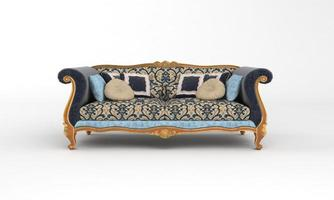 Sofa Ansicht Möbel 3D-Rendering foto