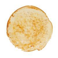 runder gebratener Pfannkuchen foto