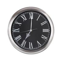 Uhr zeigt genau sieben Uhr foto