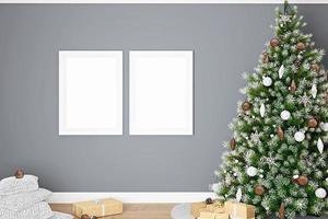 Weihnachtsrahmenmodell-306 foto