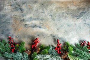 Weihnachtsfeiertagskartenkonzept foto