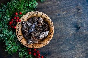 Weihnachtskartenkonzept foto