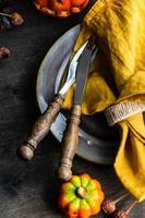 Erntedankfest Tischdekoration foto