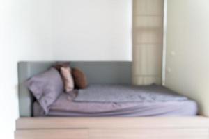 abstrakte Unschärfe Schlafzimmer für Hintergrund foto