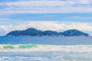 Praia Lopes Mendes Strand auf der tropischen Insel Ilha Grande Brasilien. foto