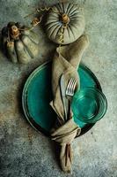 herbstliche Tischdekoration foto