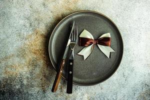 minimalistische Tischdekoration foto