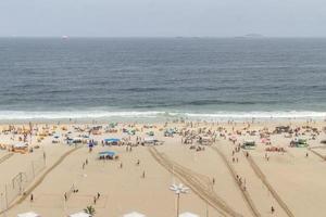 rio de janeiro, brasilien, 2015 - leme beach in copacabana foto
