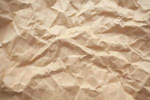 zerknittertes braunes Papier Textur und Hintergrund foto