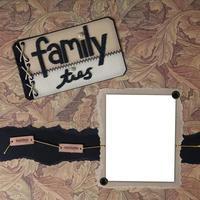 handgemachtes Scrapbook-Papierseitenlayout zum Einfügen Ihrer Bilder foto