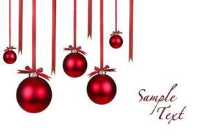 Weihnachtsschmuck mit Schleifen hängen foto